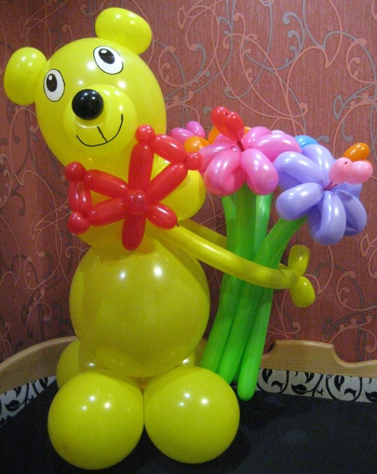 Медвежонок из шаров своими руками