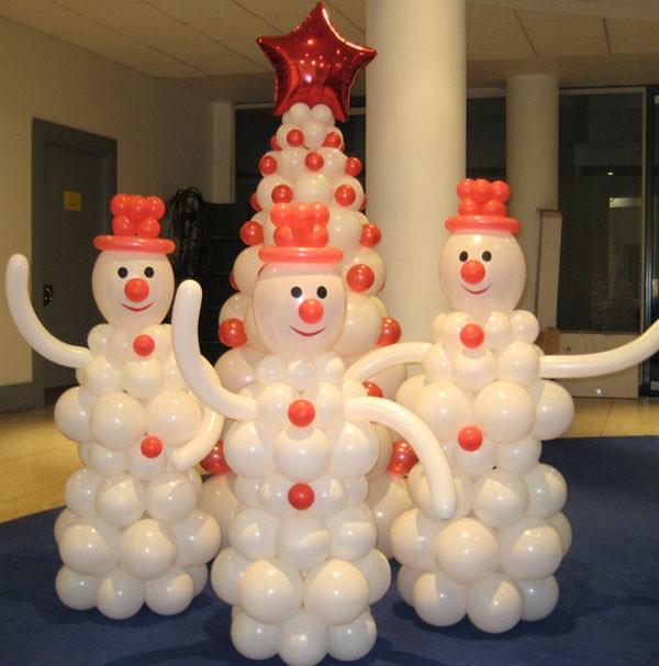 Украшение воздушными шарами на новый год