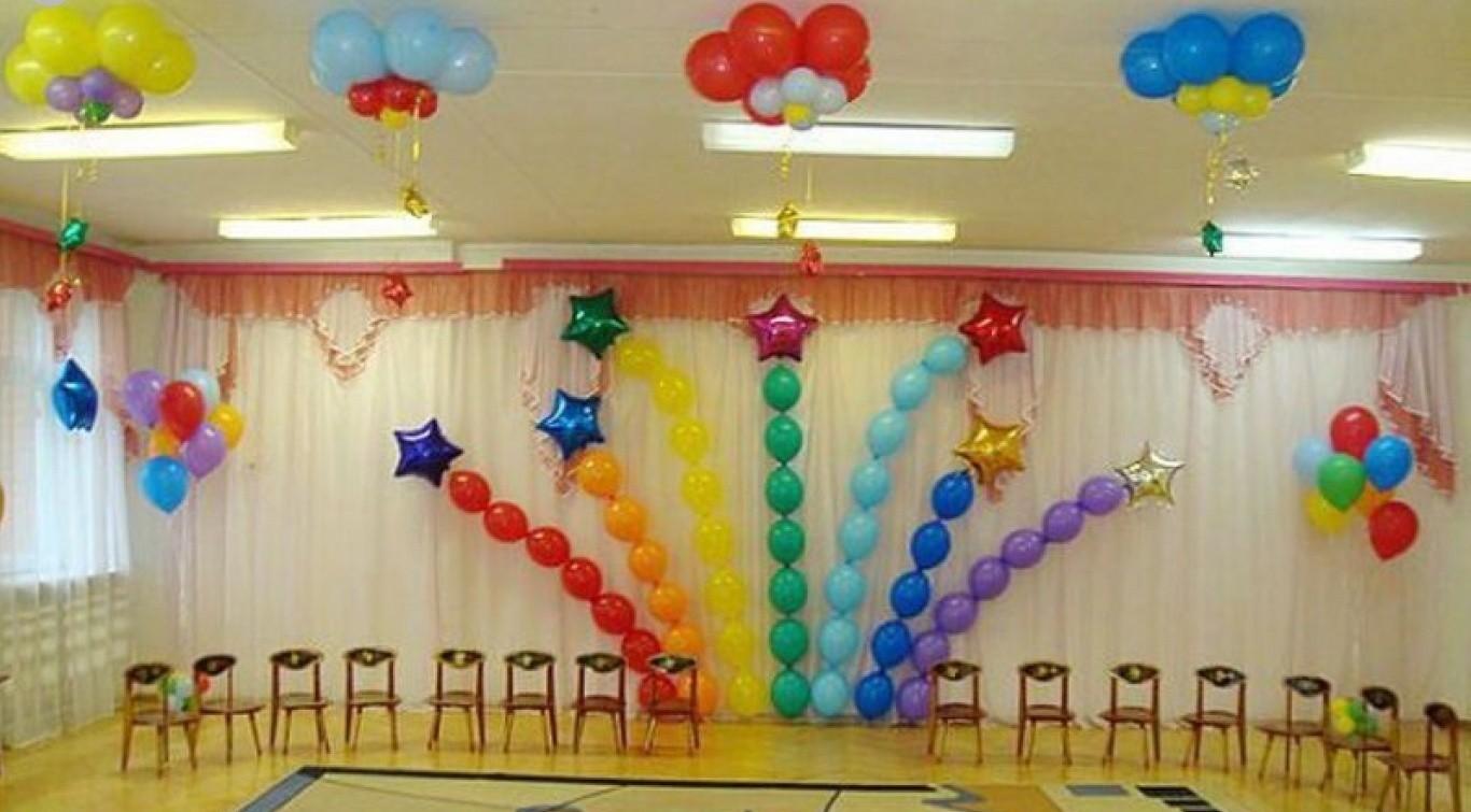 Оформление зала к выпускному в детском саду своими руками фото