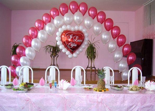 Украшение зала на свадьбу своими руками шарами