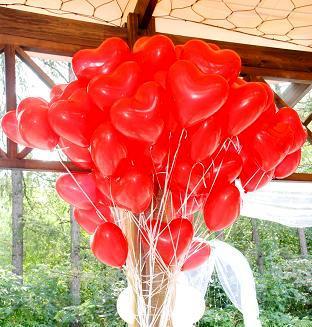Акция, 40 шаров сердечек, 10 дюймов (25 см)
