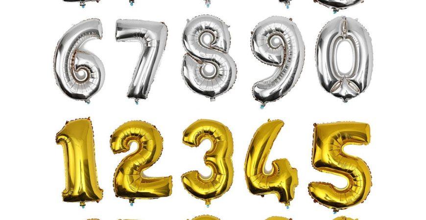 Фольгированный шар цифра, 86 см