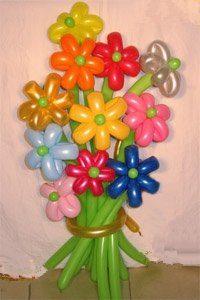 Букет разноцветных ромашек
