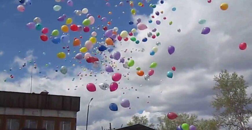 Фейерверк из воздушных шаров