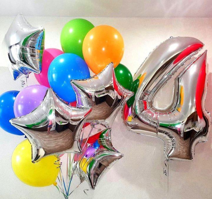 Фольгированные шары-цифры на заказ