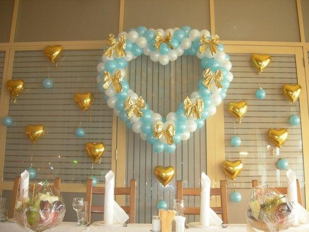 Гелиевые шары на свадьбу в Киеве